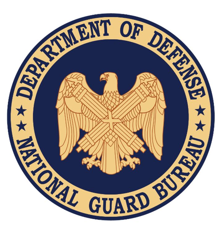 Departmet of Defence National Guards Bureau USA two Fascies and the Roman Eagle