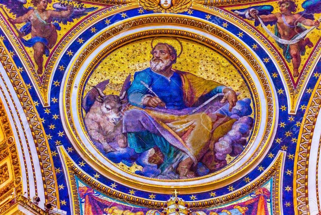 "Saint Luke and ""Moloch"" Saint Peter's Basilica Vatican Rome Italy"