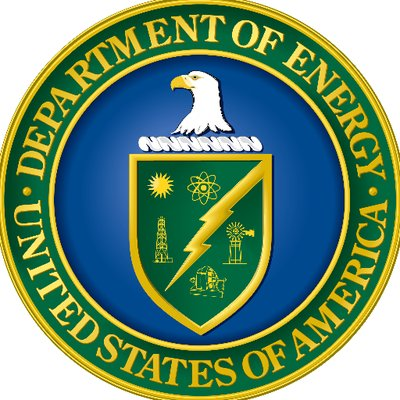 Department of energy USA (Eagle, and a shield with a symbol of the Sun, a symbol of Jupiter